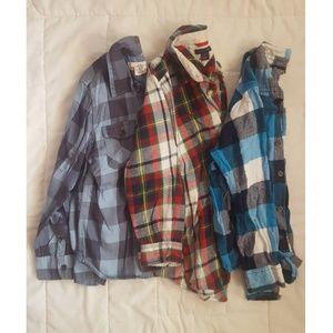 Plaid long sleeve bundle
